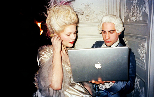 Marie Antoinette meets technology